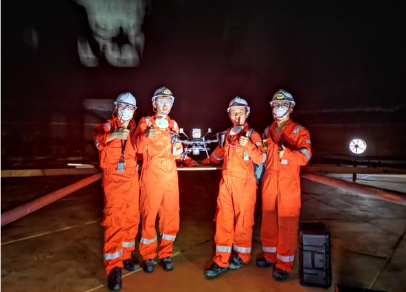 UAV tank inspection